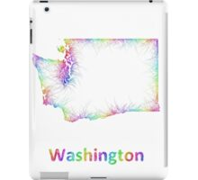 Rainbow Washington map iPad Case/Skin