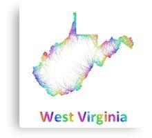 Rainbow West Virginia map Canvas Print