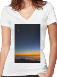Sunset Glows Women's Fitted V-Neck T-Shirt