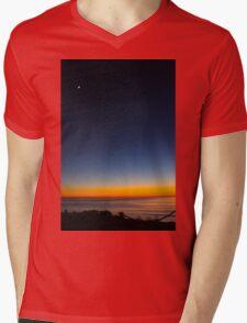 Sunset Glows Mens V-Neck T-Shirt