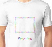 Rainbow Wyoming map Unisex T-Shirt