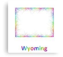 Rainbow Wyoming map Canvas Print