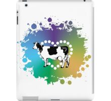 Cow Lover Colored Heart iPad Case/Skin