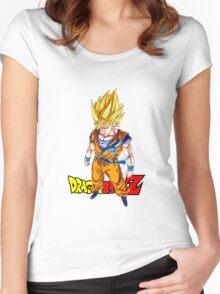Dragon Ball Z - Super Saiyan Goku Women's Fitted Scoop T-Shirt