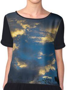 Blue Clouds Chiffon Top