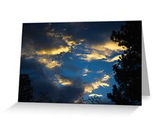 Blue Clouds Greeting Card