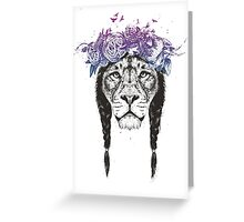 King of lions Greeting Card