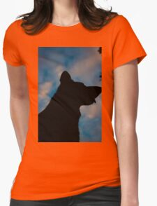 Dog Silhouette  Womens Fitted T-Shirt