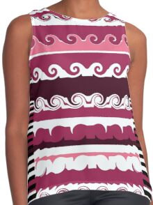 Line It With Waves Contrast Tank