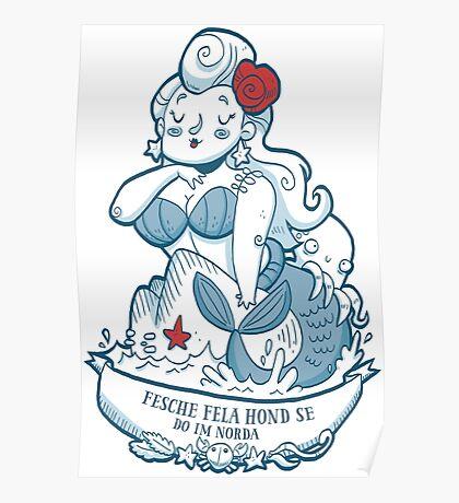 Swabian Mermaid Poster