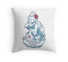 Swabian Mermaid Throw Pillow