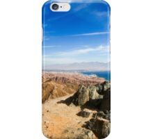 The colourful Eilat mountain range The gulf of Aqaba in the background  iPhone Case/Skin