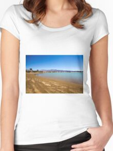 Eilat, Israel the artificial lagoon  Women's Fitted Scoop T-Shirt