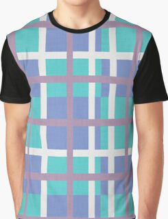 blue background of plaid pattern Graphic T-Shirt