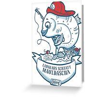 Swabian Fisher-Fish Greeting Card