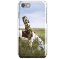 """An Oasis in the Badlands"", Red Hawk, ca. 1905 iPhone Case/Skin"
