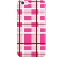 pink background of plaid pattern iPhone Case/Skin
