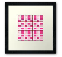 pink background of plaid pattern Framed Print