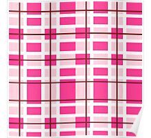 pink background of plaid pattern Poster
