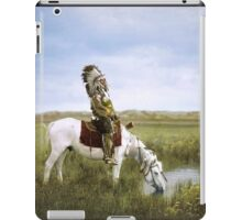 """An Oasis in the Badlands"", Red Hawk, ca. 1905 iPad Case/Skin"