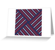 Fourth of July Americana Quilt Greeting Card