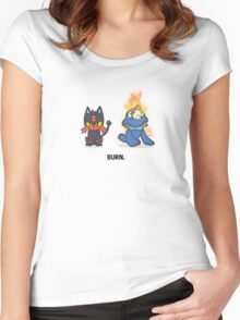 Burn. Women's Fitted Scoop T-Shirt