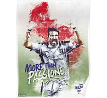 ITALY UEFA EURO 2016 FRANCE Poster