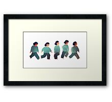 Sleepy Little Girl Walk Cycle Framed Print