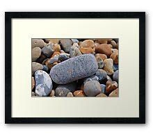Hastings beach pebbles Framed Print