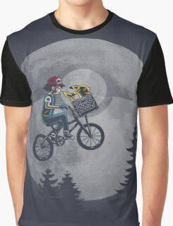 Bicycle scene - Pokemon E.T. Graphic T-Shirt