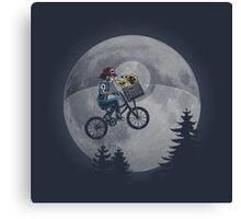 Bicycle scene - Pokemon E.T. Canvas Print