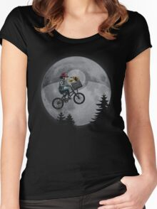 Bicycle scene - Pokemon E.T. Women's Fitted Scoop T-Shirt