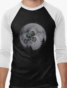 Bicycle scene - Pokemon E.T. Men's Baseball ¾ T-Shirt
