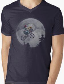 Bicycle scene - Pokemon E.T. Mens V-Neck T-Shirt