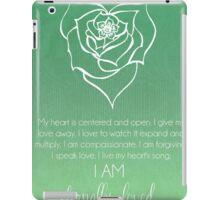 Heart Chakra Affirmation iPad Case/Skin