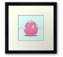 Cute Tropical Fruits - Dragon Fruit Framed Print