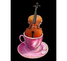 Music is Everyone's Cup of Tea - Cello  Photographic Print