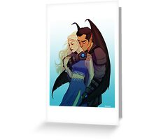 Morrigan and Azriel Greeting Card