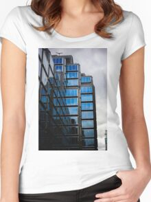 window reflections Women's Fitted Scoop T-Shirt