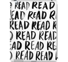 Read, Read, Read (White) iPad Case/Skin