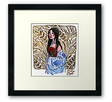 Lady in Blue Framed Print