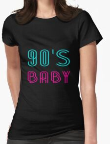 90's BABY Womens Fitted T-Shirt