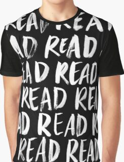 Read, Read, Read (Black) Graphic T-Shirt