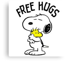 Free Hugs Snoopy Canvas Print