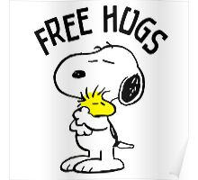 Free Hugs Snoopy Poster