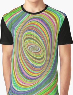 Psychedelic ellipse Graphic T-Shirt