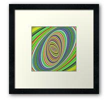 Psychedelic ellipse Framed Print