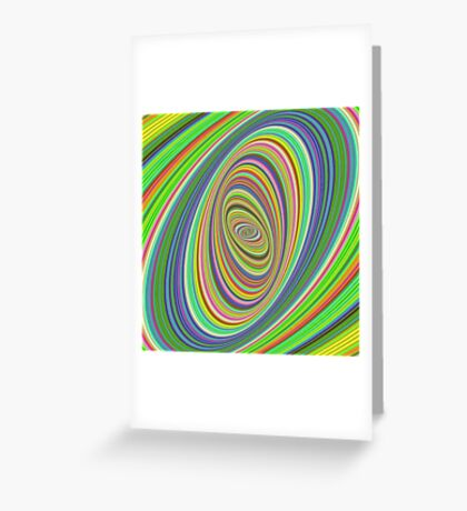 Psychedelic ellipse Greeting Card