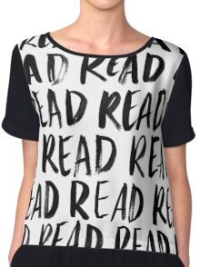 Read, Read, Read (White) Chiffon Top