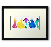 Princesses Inspired Silhouette Framed Print